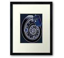 The Twelfth Doctor - time spiral Framed Print
