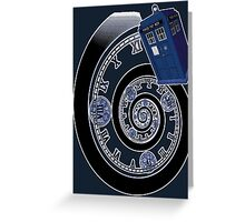 The Twelfth Doctor - time spiral Greeting Card