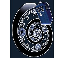 The Twelfth Doctor - time spiral Photographic Print