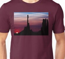 Sun dawns at Totem Pole Unisex T-Shirt