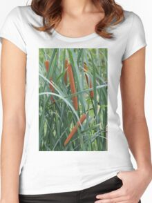 flower in summer Women's Fitted Scoop T-Shirt