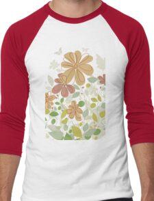 Flowers in the spring Men's Baseball ¾ T-Shirt