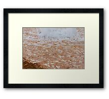 fountain gushing Framed Print