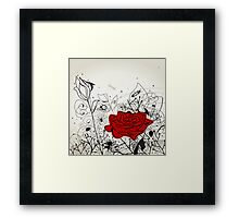 Insect a flower Framed Print