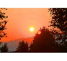 As The Sun Sets Photographic Print