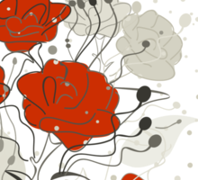 Red flower Sticker