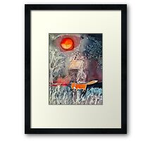 catching chickens Framed Print