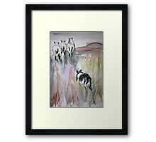 at the sheepdog trial Framed Print