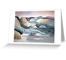 Penguin Chat at Boulders Beach Greeting Card