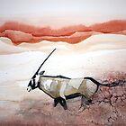 Oryx in flight by Claudia Dingle