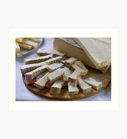 cheese appetizer Art Print