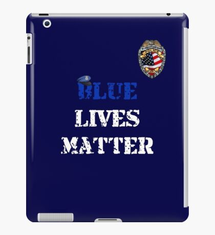 Blue Lives Matter iPad Case/Skin