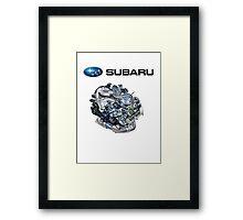 Subaru EJ20-25 Engine + Text Framed Print
