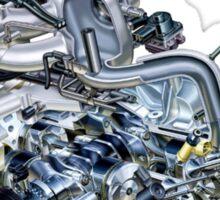 Subaru EJ20-25 Engine + Text Sticker