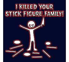 Stick Figure Family Photographic Print