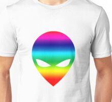 Rainbow Alien Unisex T-Shirt