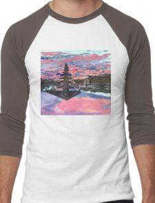 Temple Sunset  Men's Baseball ¾ T-Shirt