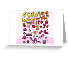 Children Cute Monster Greeting Card
