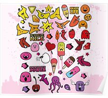 Children Cute Monster Poster