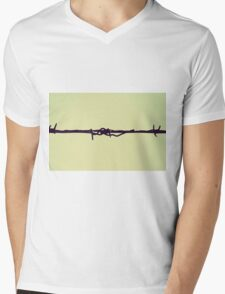 barbed wire Mens V-Neck T-Shirt