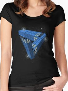 Doctor Who - Impossible Call Box Women's Fitted Scoop T-Shirt