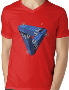 Doctor Who - Impossible Call Box Mens V-Neck T-Shirt