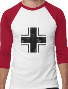 Military Roundels - German WWII Balkenkreuz Men's Baseball ¾ T-Shirt