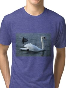 swan on the lake Tri-blend T-Shirt