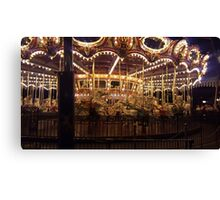 Carousel at Night Canvas Print