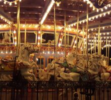 Carousel at Night Sticker