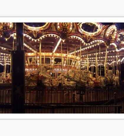 Carousel at Night Sticker
