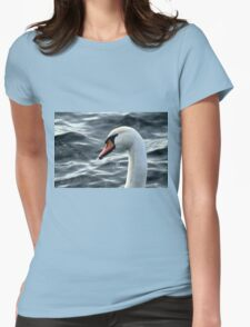 swan on the lake Womens Fitted T-Shirt