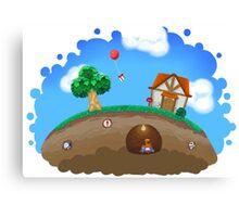 Animal Crossing Panorama  Canvas Print
