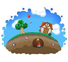 Animal Crossing Panorama  Photographic Print