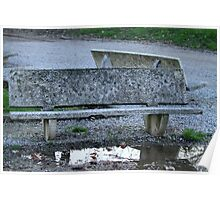 bench on the lake Poster