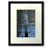 docking on lake Framed Print