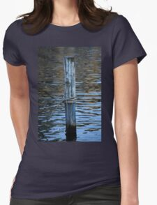 docking on lake Womens Fitted T-Shirt