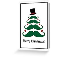 Merry Christmas Mustache Card Greeting Card