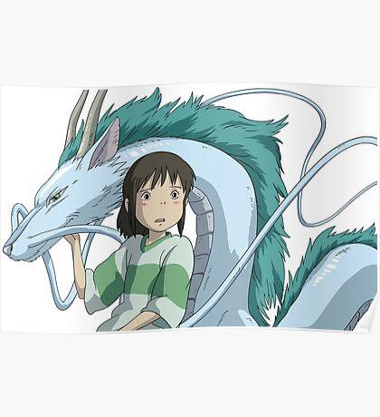 Spirited Away, Chihiro and Haku Poster