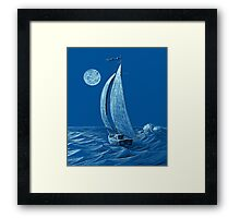 A night sail Framed Print