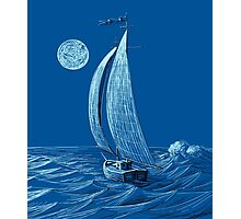 A night sail Photographic Print