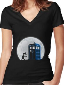 Doctor Who - Doctor Et T-shirts Women's Fitted V-Neck T-Shirt