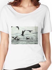 seagull on lake Women's Relaxed Fit T-Shirt