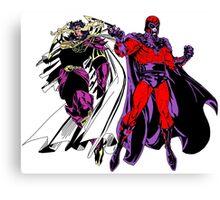 Exodus and Magneto Canvas Print
