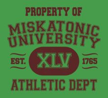 Property of Miskatonic University Athletic Dept One Piece - Short Sleeve