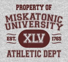 Property of Miskatonic University Athletic Dept by Robyn California
