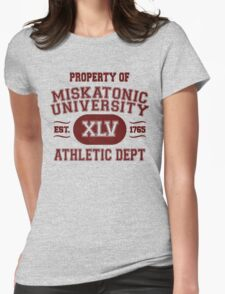 Property of Miskatonic University Athletic Dept Womens Fitted T-Shirt