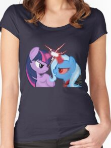 Twilight Sparkle vs Trixie Women's Fitted Scoop T-Shirt