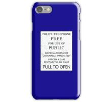 Police Telephone - Free For Public Use iPhone Case/Skin