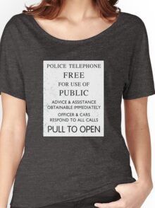 Police Telephone - Free For Public Use Women's Relaxed Fit T-Shirt
